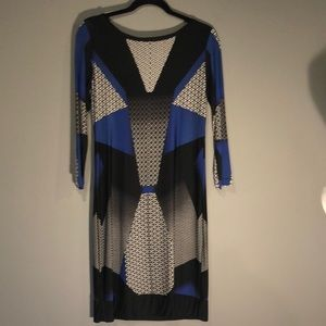 BCBG slim patterned dress